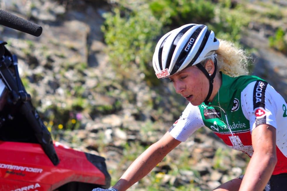 I VEGGEN: Jolanda Neff åpnet som en kule, men fikk det tungt i høyden.