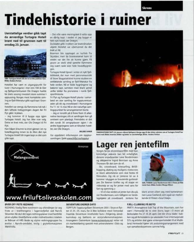 Turtagrø brant