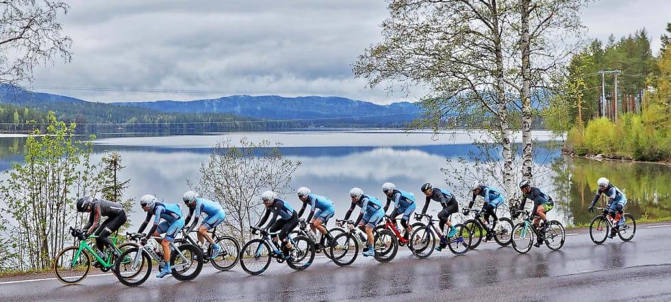 BONUS: For Team Follo var tredjeplassen på Nordmarka Rundt en bonus på et ritt som egentlig ikke sto på lagets terminliste. Foto: Ola Morken