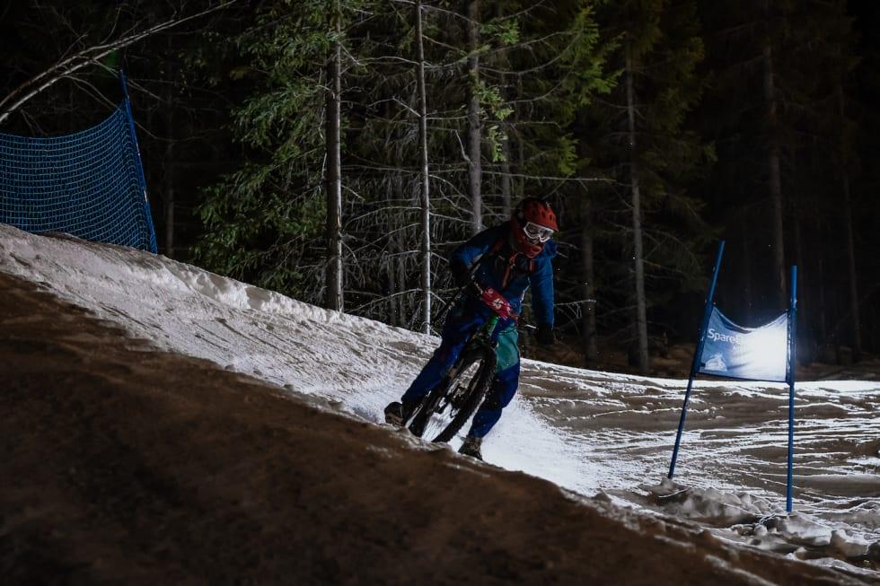 Jo Røysli måtte ut med foten i svingen. Foto: Morten Dodson