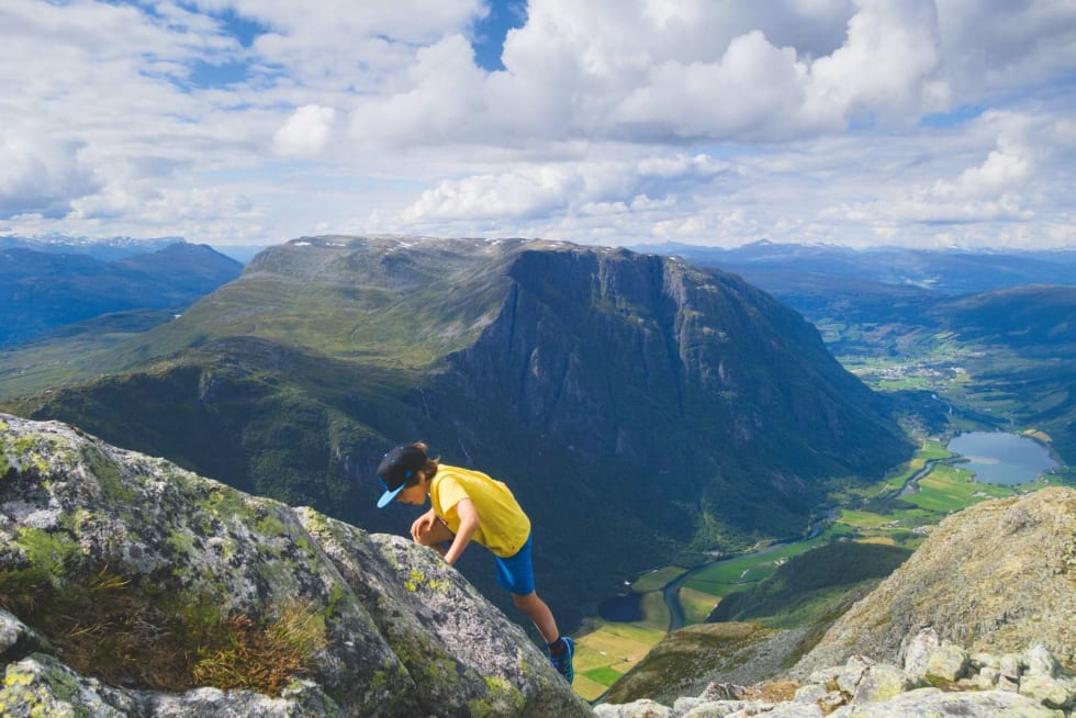 NY STJERNE: I Gloppen er det planer om å gjøre Eggenipa (1338 moh.) like kjent som Besseggen. Foto: Erlend Sande
