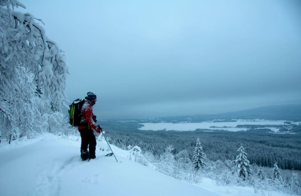 HØGT: ...over marka like ved Norges hovedstad. Foto: Gunhild Aaslie Soldal