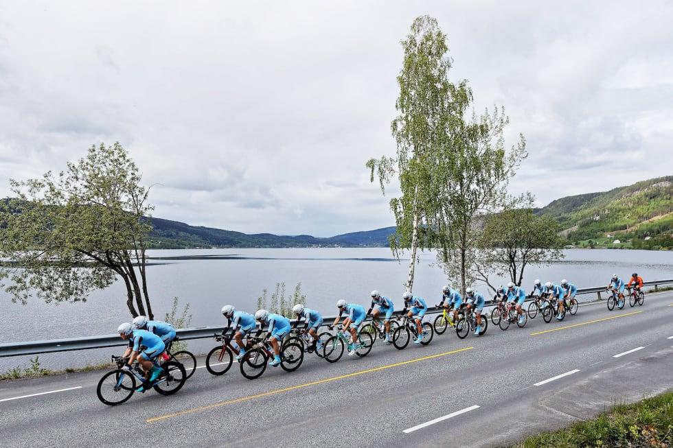 RASKE: Team Follo slo Rye Expressen med stor nok margin til å fysisk passere dem underveis. Foto: Ola Morken