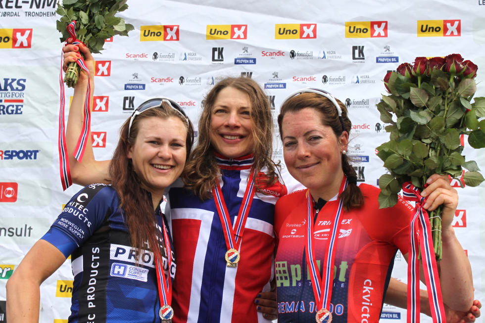 Katrine Aalerud - Vita Heine - Ingrid Lorvik - NM Landevei 2017 - NCF 1400x933
