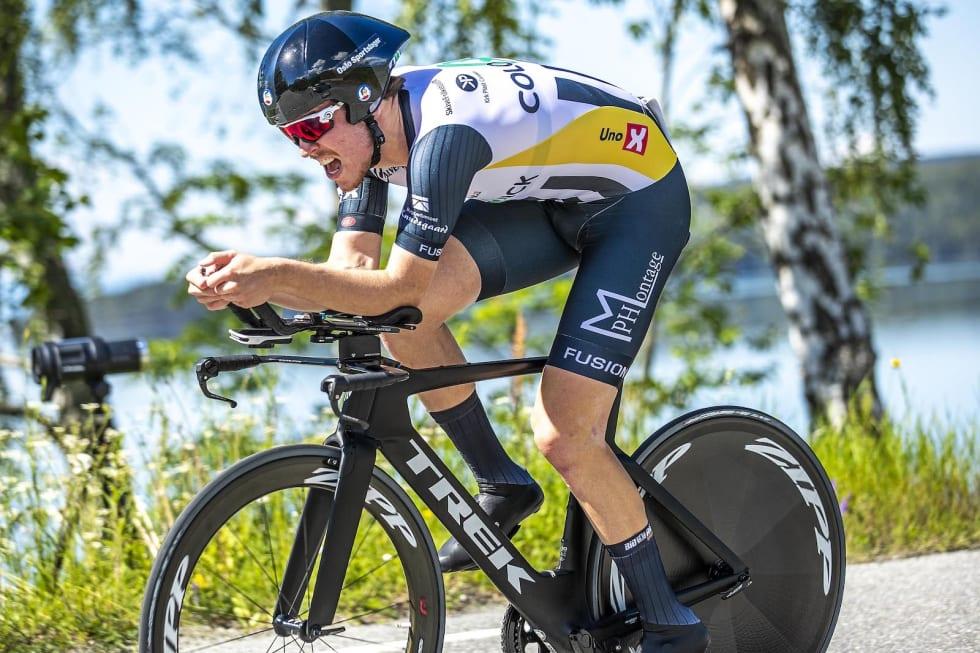ANDREPLASS: Stein-Erik Erikssen ble nummer to på temporittet lørdag. Foto: Pål Westgaard