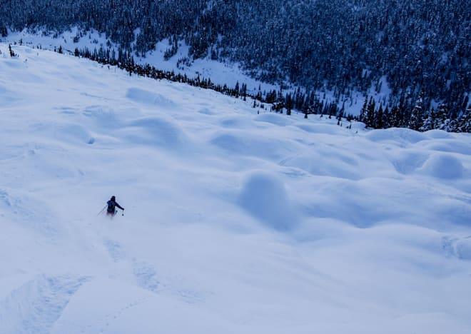 DEILIG: Dette er liksom kanadisk skikjøring på sitt beste. Foto: Øystein Bjelland