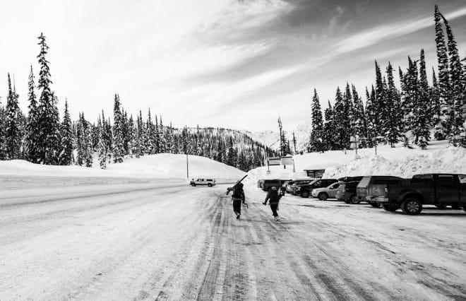 LIVET PÅ VEIEN: God stemning etter en bra dag på ski. Foto: Øystein Bjelland