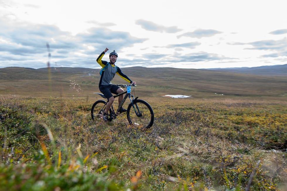 Skaidi Xtreme er en utfordring, så det er grunn til å juble for hver tilbakelagte motbakke. Foto: Cecilia Emilie Johansen, Frikant/Skaidi Xtreme