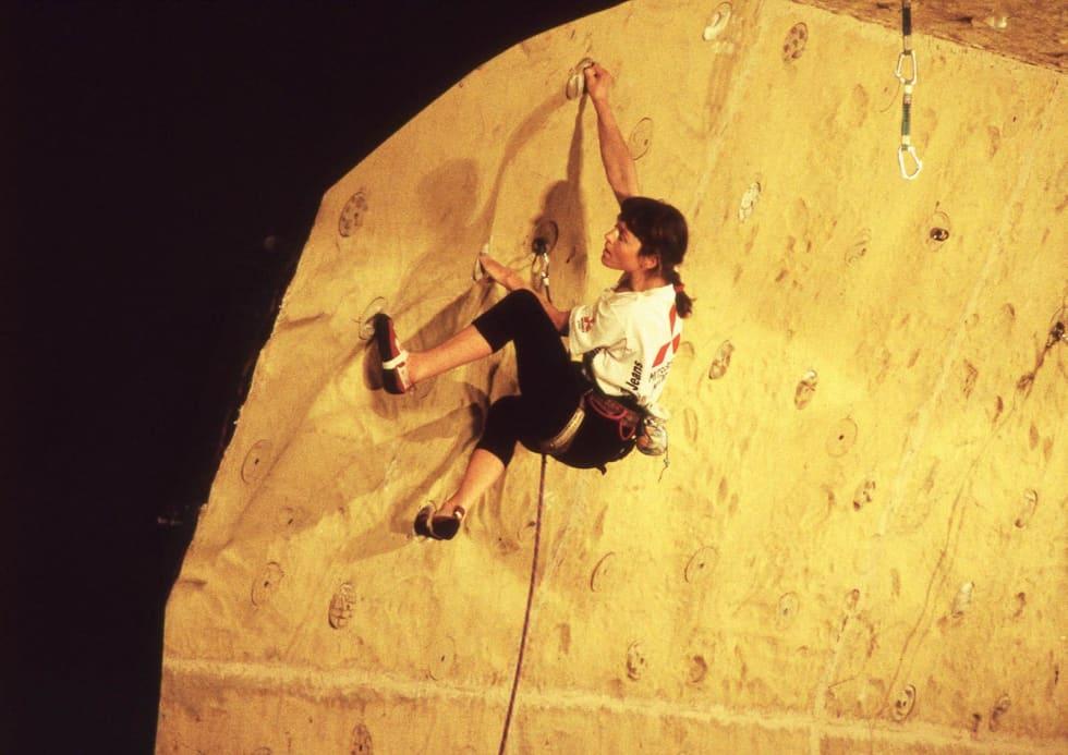 OVERTRENT: Berit deltok i verdenscupen i Frankfurt i mars 1993. Foto: Privat