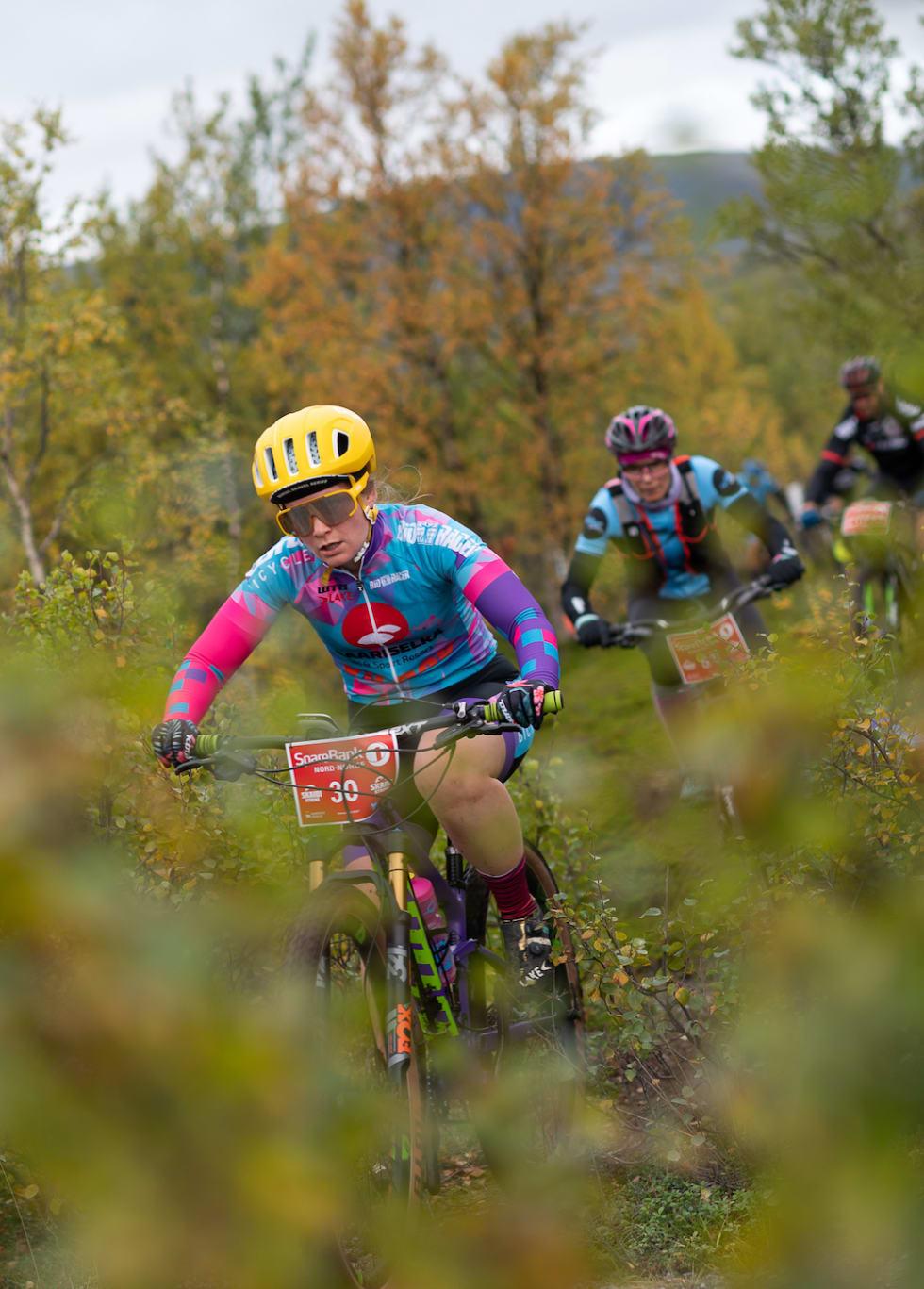 Tina Idström har vært på pallen i Skaidi Xtreme før. I år ble hun nummer to i eliteklassen, men fjerde raskeste dame. Foto: Cecilia Emilie Johansen, Frikant/Skaidi Xtreme
