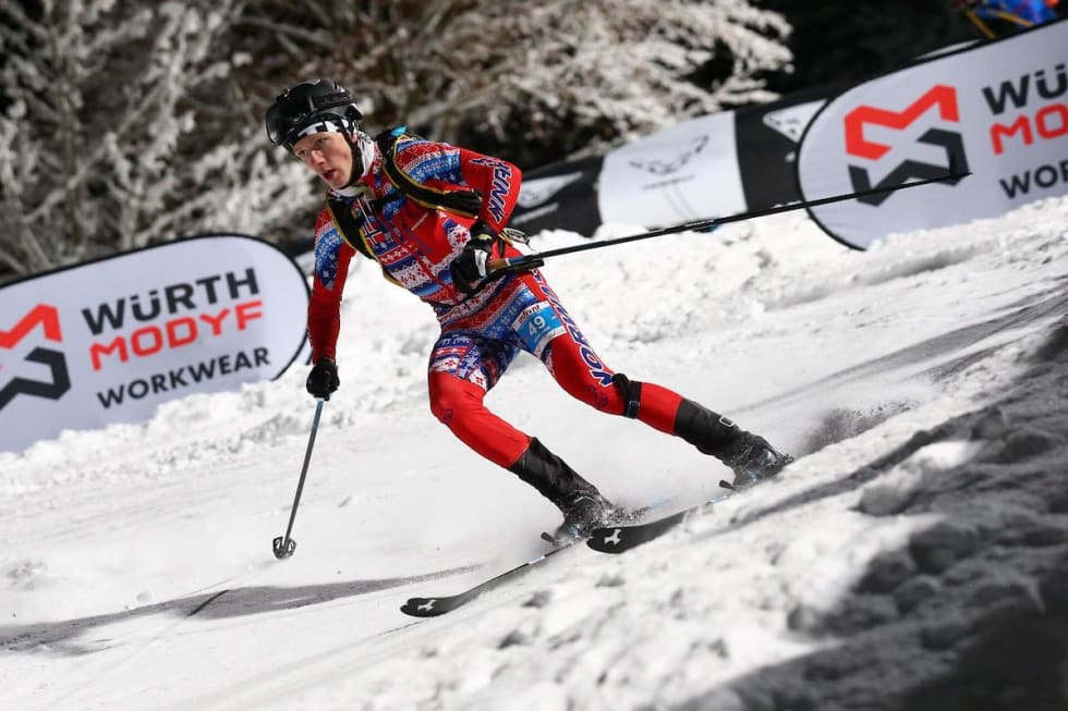 Hans-Inge Klette under verdenscupdebuten i Østerrike i januar. Foto: Arrangøren