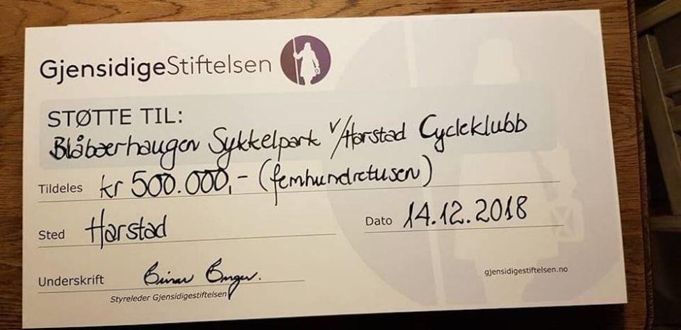 Pengene fra Gjensidigestiftelsen kommer godt med. Foto: Harstad CK