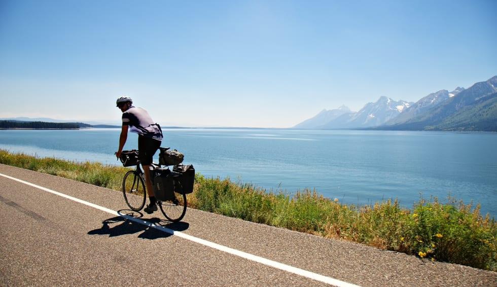 Jackson Lake og de mektige Grand Tetons