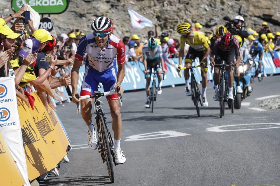 REVANSJE: Thibaut Pinot var frustrert etter tidstapet på den tiende etappen, i dag slo han knallhardt tilbake. Foto: Cor Vos.