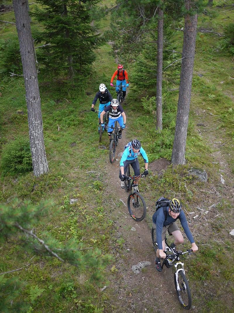 FELLESTUR: Med el-sykkel kan Øivind Grønli igjen være med kompisene på stitur. Foto: Stig Nerland.