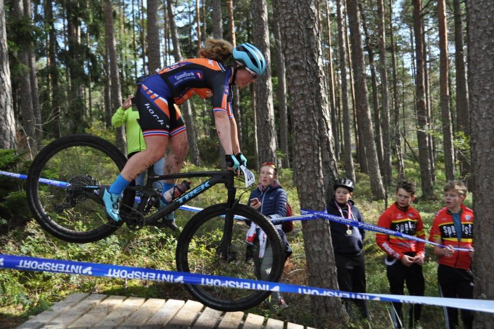 Elisabeth Sveum ble nummer tre i rundbanerittet i Halden. Foto: Vegard Utne