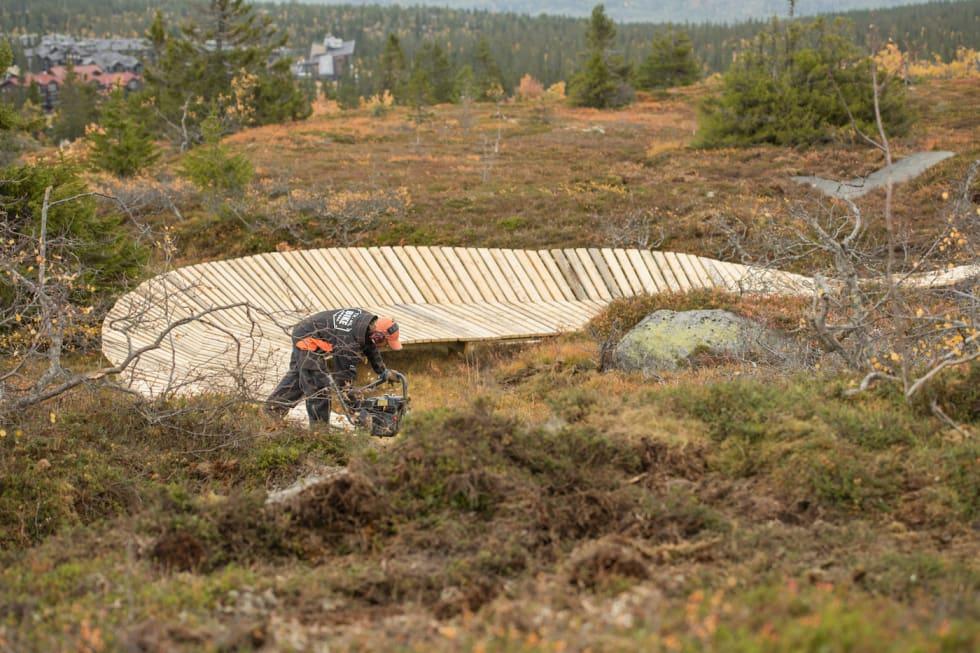 Fra den nye stien Fjellflyten i Fageråsen, som åpnet i fjor høst. Foto: Fredrik Otterstad