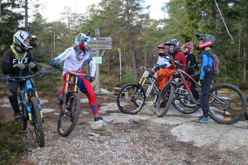 Brage Vestavik skal være med på FunDuro på søndag men kommer til å sykle i anlegget begge dagene. Foto: Annika Eriksmoen