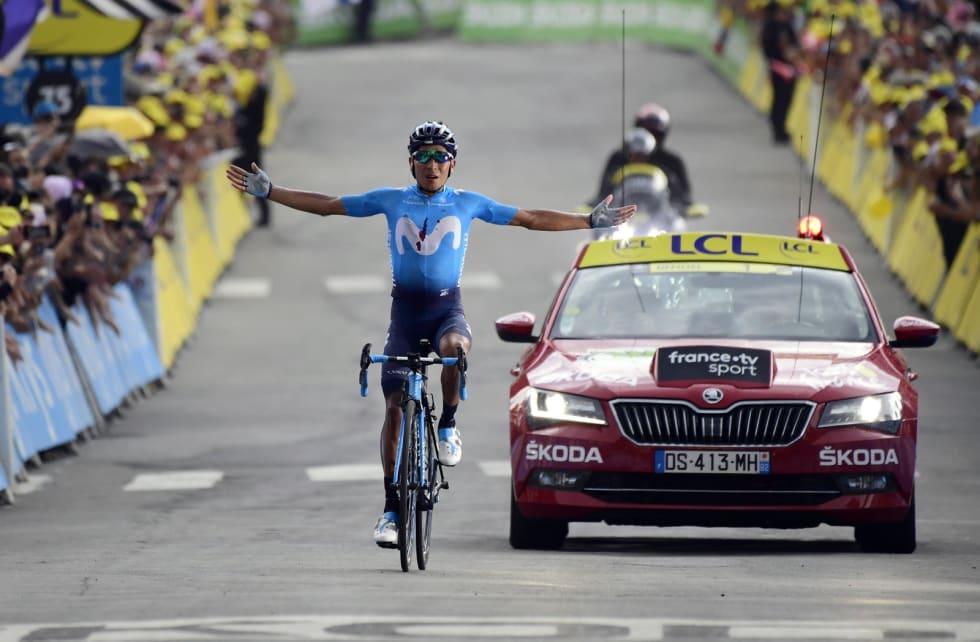 DAGENS MANN: Nairo Quintana har skuffet så langt i årets Tour, men slo tilbake med en sterk etappeseier i dag. Foto: Cor Vos.
