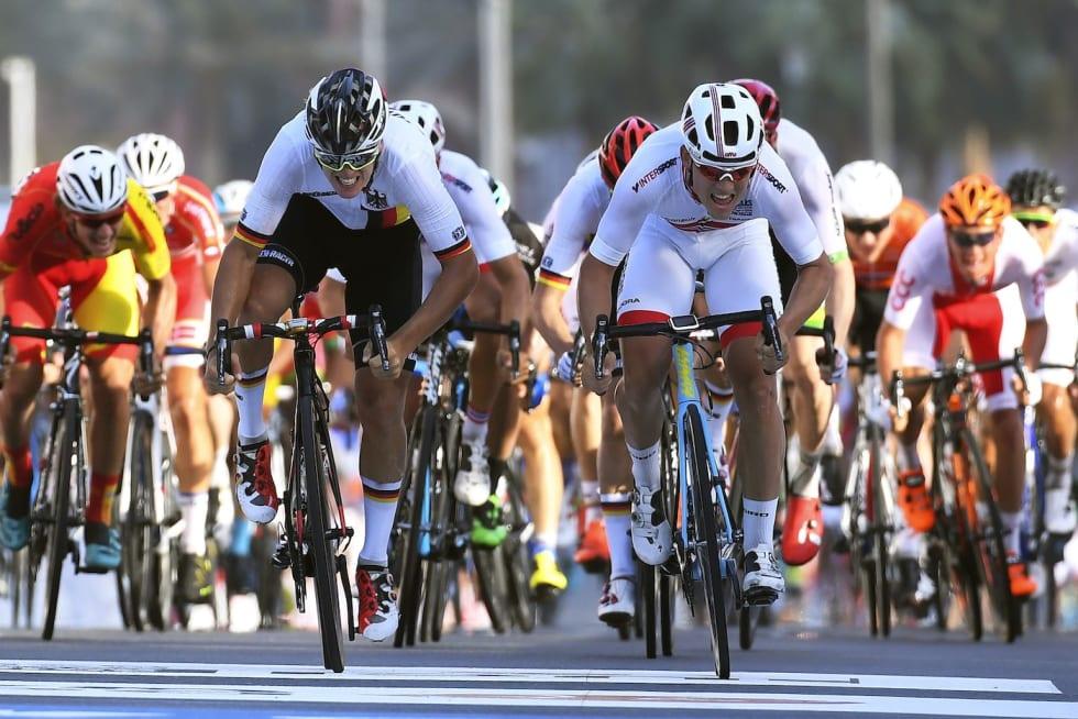 Kristoffer Halvorsen VM Gull Quatar U23 road race 2016 Foto COR VOS