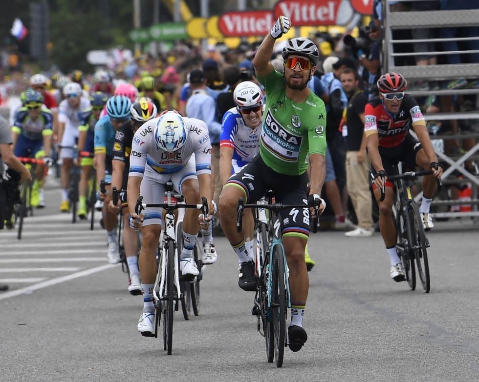 Peter Sagan - Alexander Kristoff - Arnaud Demare - Stage 13 - Cor Vos 1400x