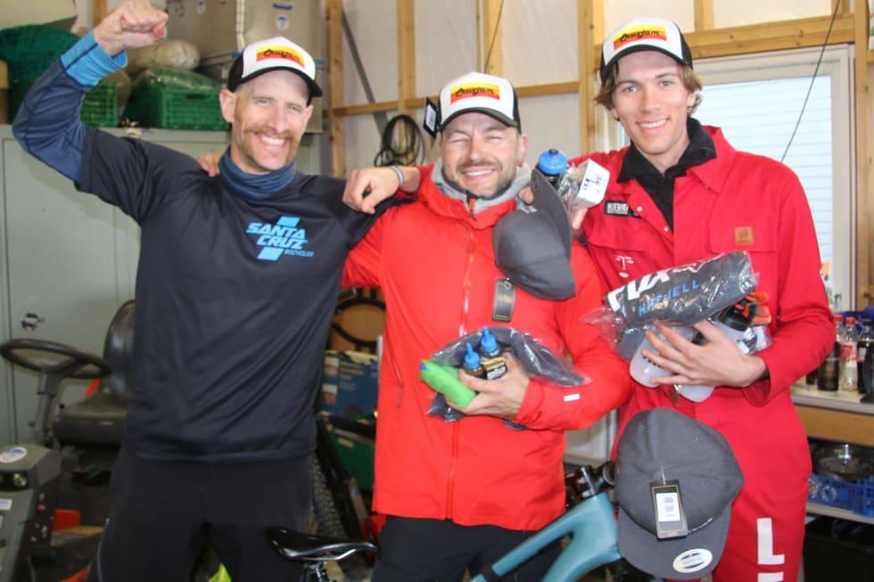 Pallen i cruxekonkurransen: Niklas Skogh vant foran Lucas Leiro (til høyre) mens Are Tallaksrud ble nummer tre. Foto: Rasmus Leiro