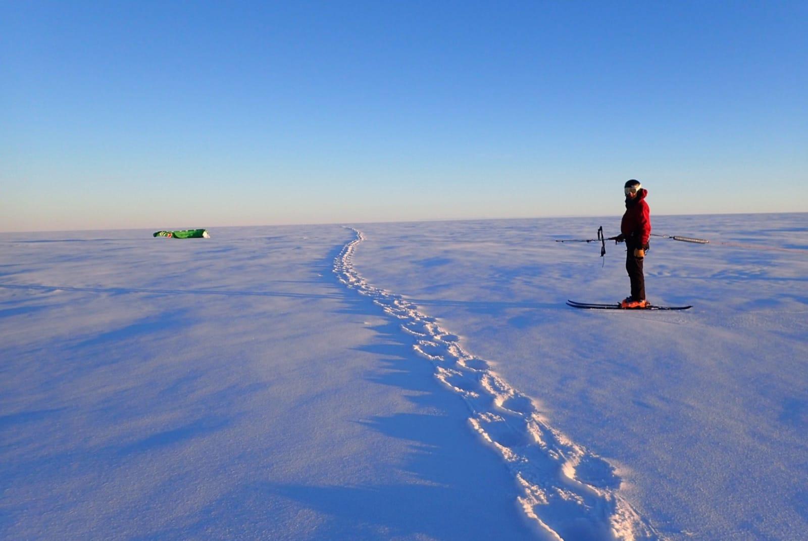 UVENTET SYN: Spor av isbjørn. Foto: Ronny Finsås