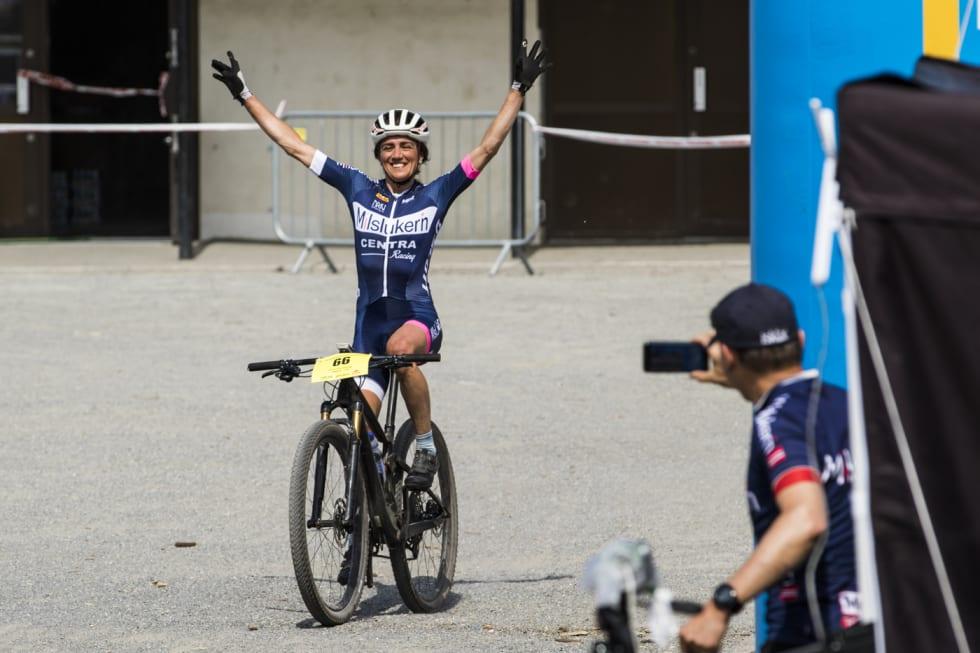 Sunniva Dring vant Terrengsykkelrittet med overlegen margin i fjor. Foto: Per-Eivind Syvertsen