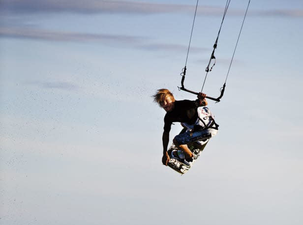 KITEELDORADO: Bore er et perfekt sted for kitesurfing og triksing i bølger. Foto: Christian Nerdrum