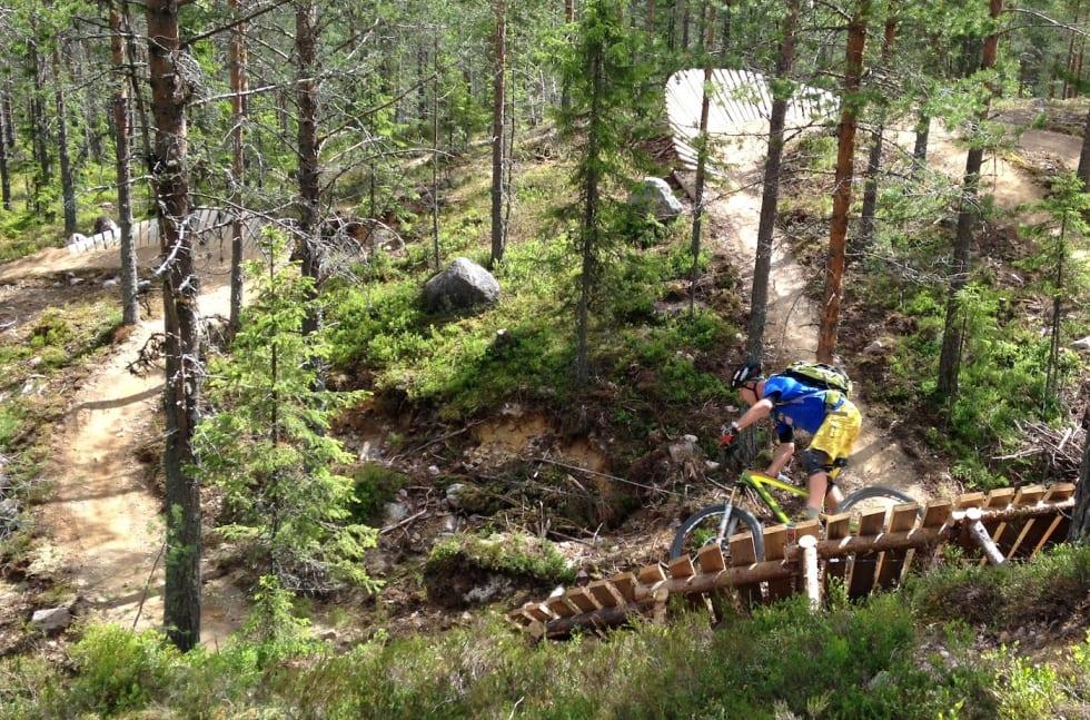 Hans Rey red trail trysil - Foto Inge Scheve