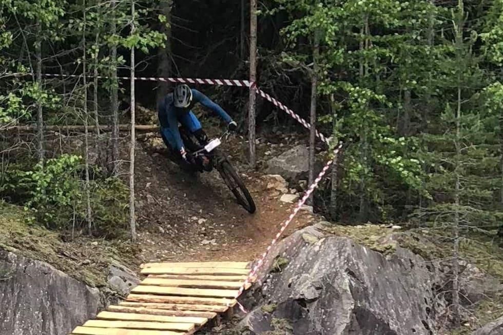 Ola Jåvold Landmark underveis i TraktorLand Enduro. Foto: Kjersti Jåvold Landmark