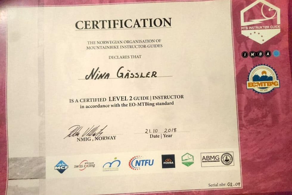 Trysil guide instructor level 2 certificate - Oct 2018 - foto Nina Gässler 1400x933