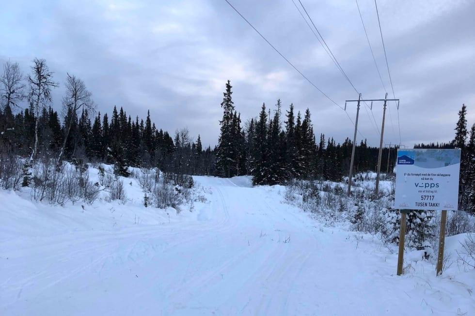 Slik var forholdene på Skrautvål-Leirin torsdag ettermiddag, der det er 24km oppkjørte løyper. Foto: Ole Christian Nymoen