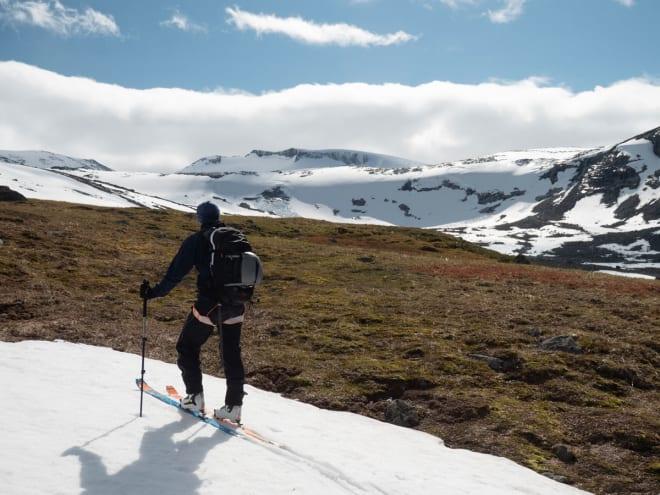 Anders Stormo på vei opp. Foto: Timme Ellingjord