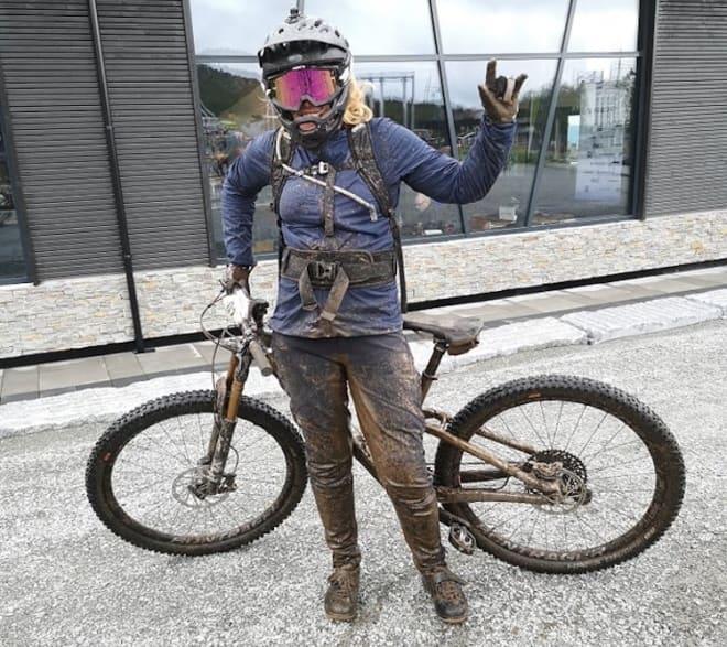 Sigrid Stjernvang vant Beitostølen Enduro, hennes første ritt av typen. Foto: Privat