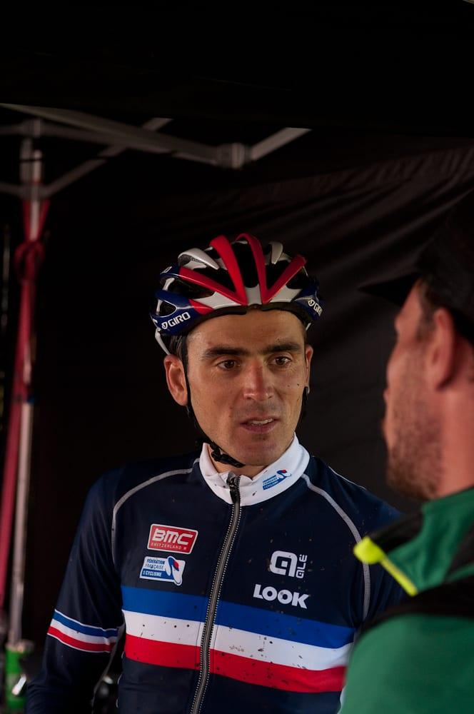 BESTEMT: 34-år gamle Julien Absalon har for første gang i karrieren bestemt seg for å sykle et VM-ritt på fulldemper.