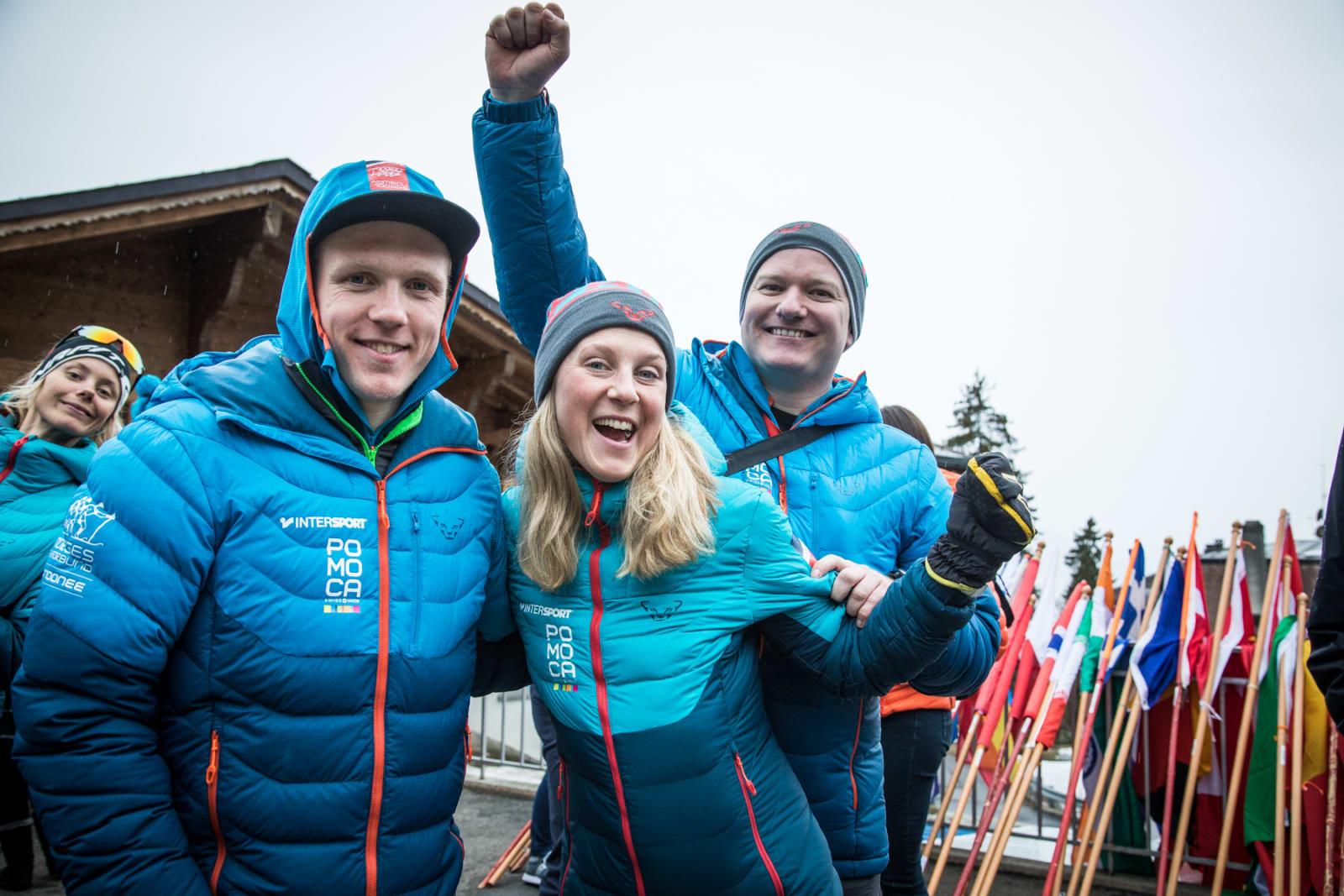 Hans Inge, Stine og Pål optimistiske under VMs opningssermoni.