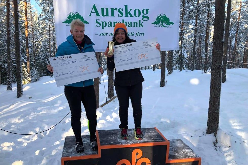 Elisabeth M. Hagen vant dameklassen foran Kristin Tyrihjell. Foto: Arrangøren
