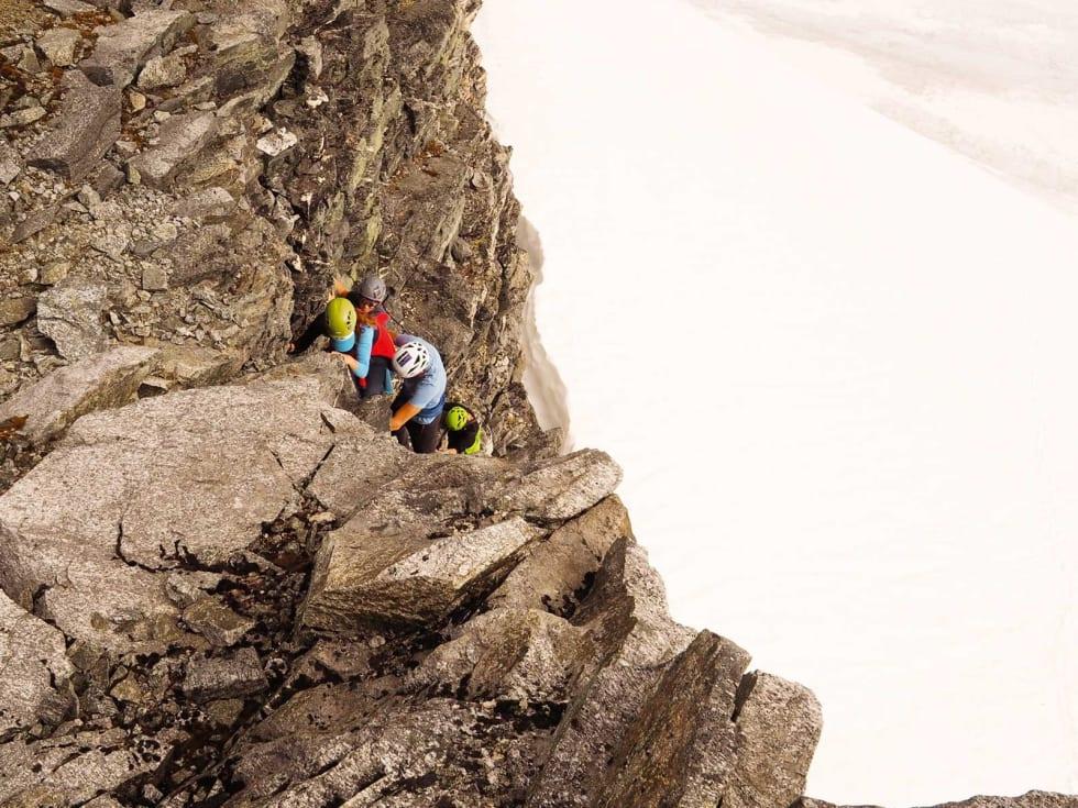 KREVENDE: En bør beherske høyde og utstyr, for å være med på en slik tur.