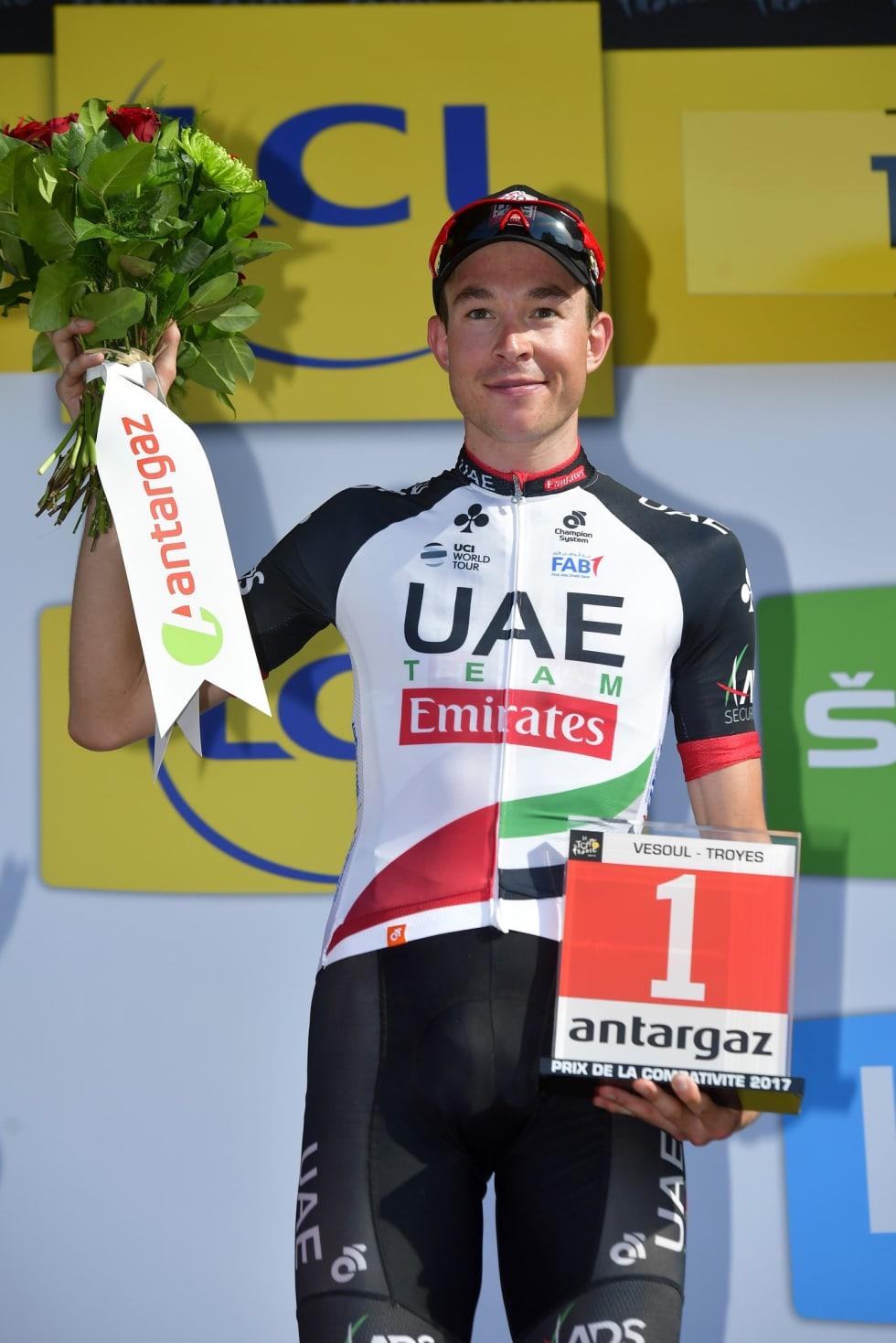 OFFENSIV: Vegard er ikke fremmed for å gå i brudd, her fra den 6. etappe i Tour de France i 2017, da han ble kåret til dagens mest offensive rytter. Foto: Cor Vos.