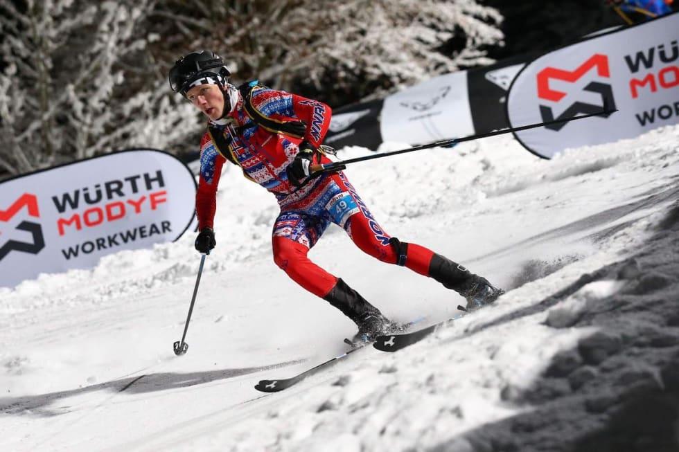 Hans-Inge Klette ble nummer fire på verdenscupsprinten i Bischofshofen på fredag. Foto: Arrangøren