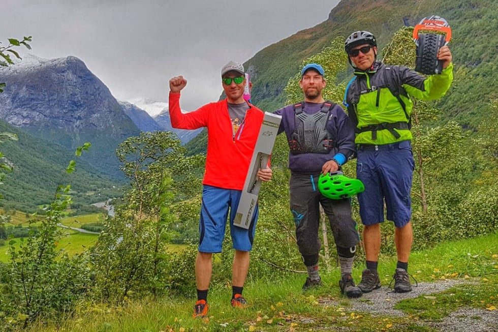 Enduro race 1.Martin Bruaset,  2 Trond Svartvatn, 3 Leif Bruland Folven 2018 - Foto Tommy Aslaksen 1400x933