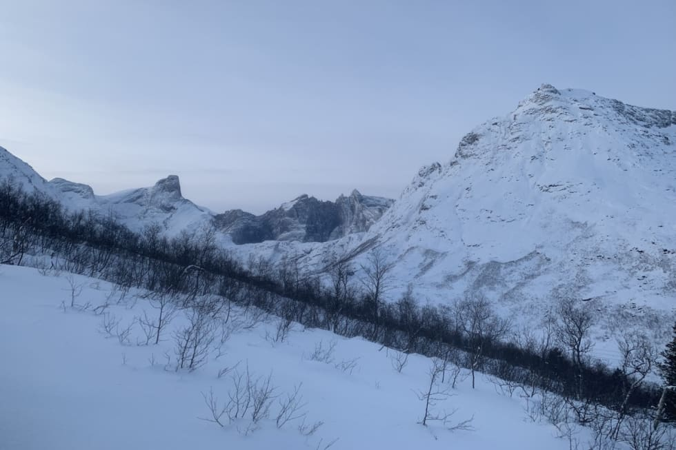 Slik så det ut ved Blånebba og Trollveggen 6. desember. Foto: Halvor Hagen