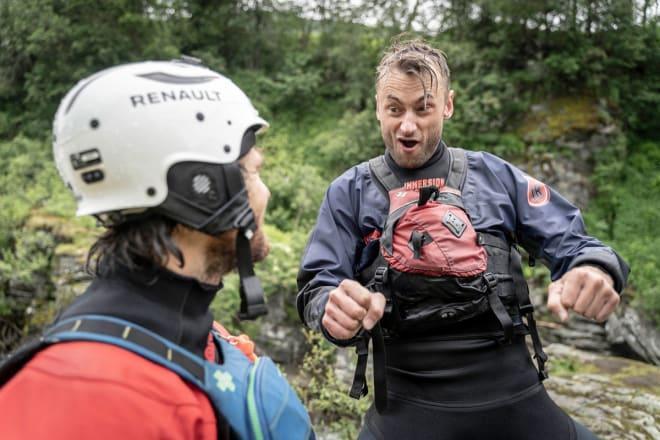 TOPP: Han skulle starta med elvepadling, mannen som ser ut til å herje vilt når presset er på topp. Foto: Kristian Jøndal