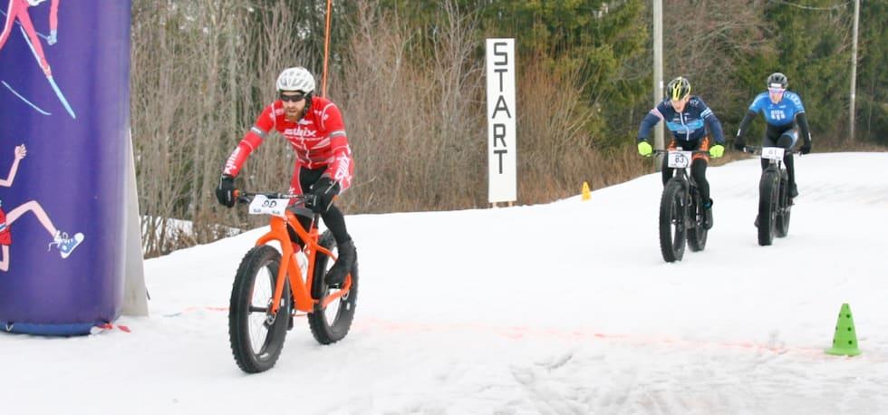 William Høines Larsen fikk det tungt på dag to av minicupen og endte på tredjeplass bak Vidar Mehl men foran Odd Erlend Hansen Berg. Foto: Per Hannaseth