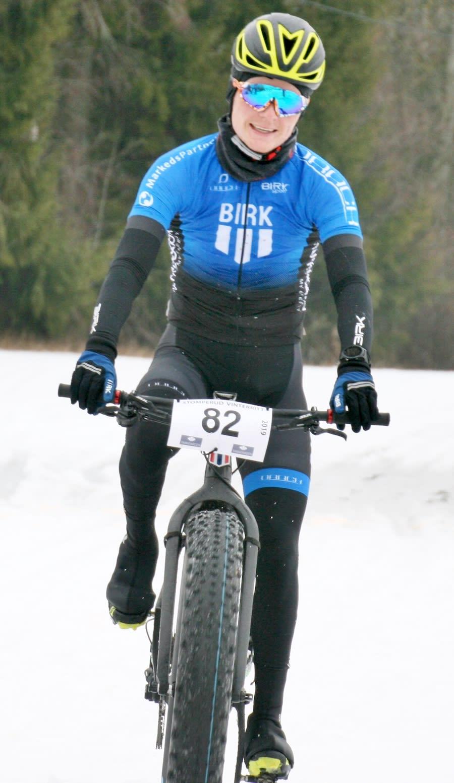 Audun Øverbye Hanssen var overlegen på Stomperud vinterritt. Foto: Per Hannaseth