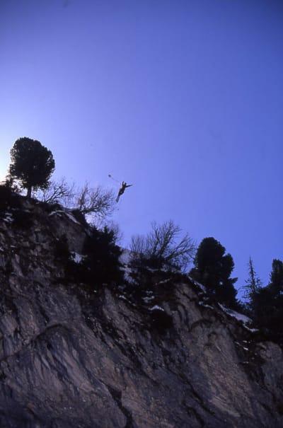 KLASSIKER: Shane hopper monoskibase i Chamonix. Foto: Endre Løvaas