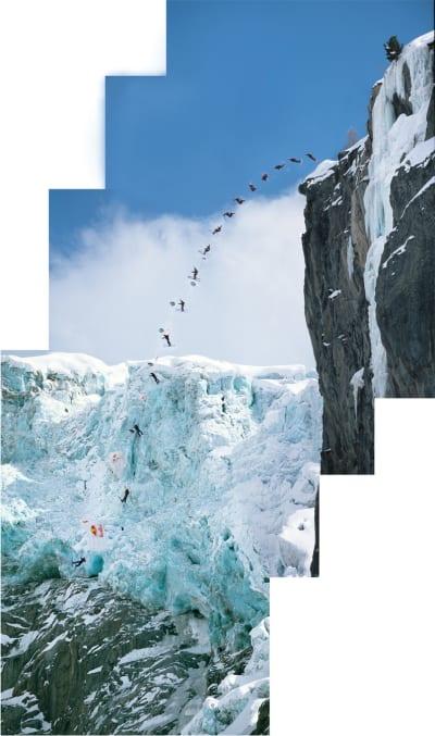 SKIBASE: Shane McConkey var nok ikke først, men han var nok den første som hadde skibasehopp som en slags dagligdags greie. Foto: Endre Løvaas