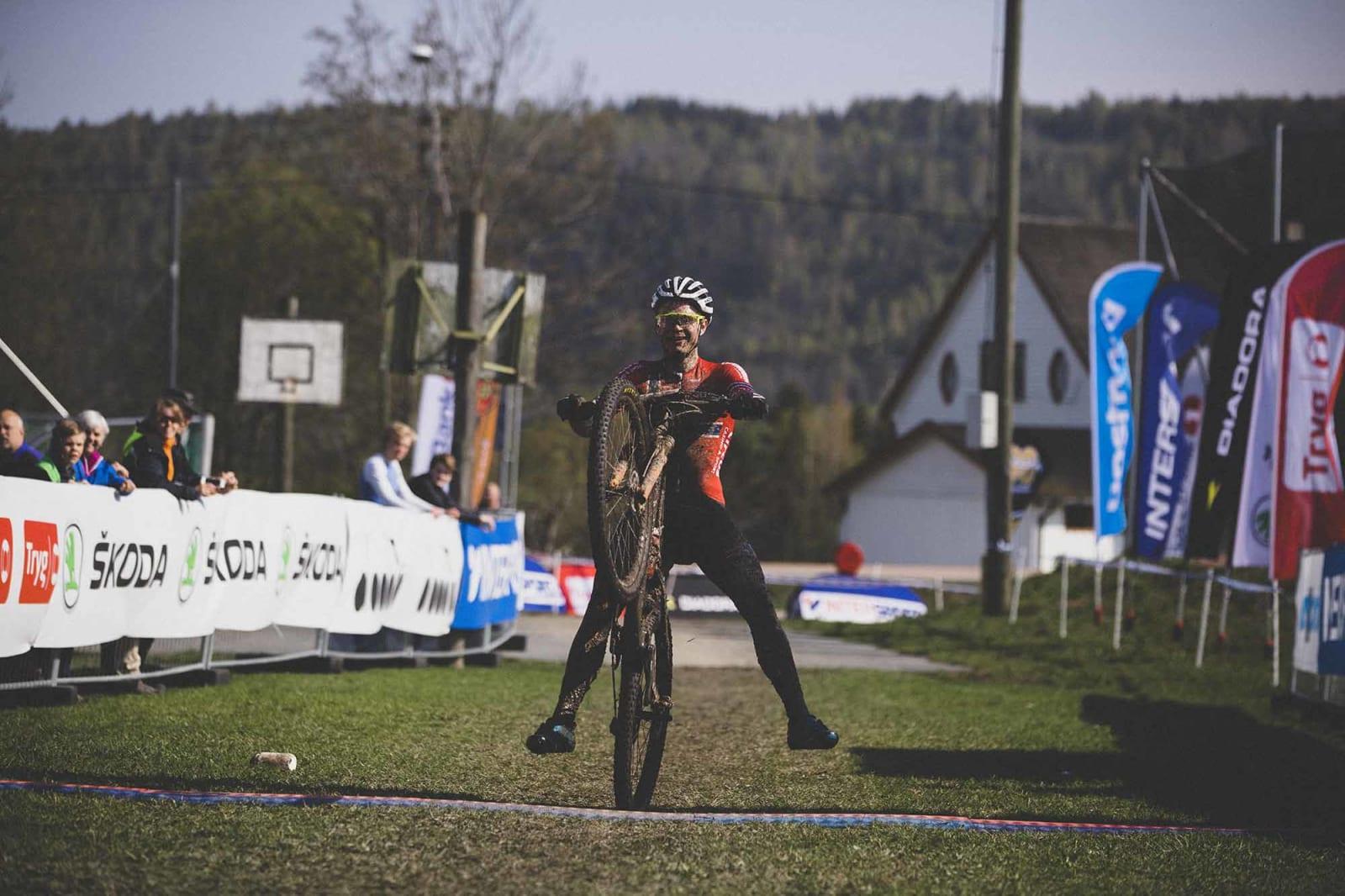 OVERLEGEN: På slutten av dagen var det ingen som kunne gjøre noe med Petter Fagerhaug. 3:49 foran nestemann på lista.