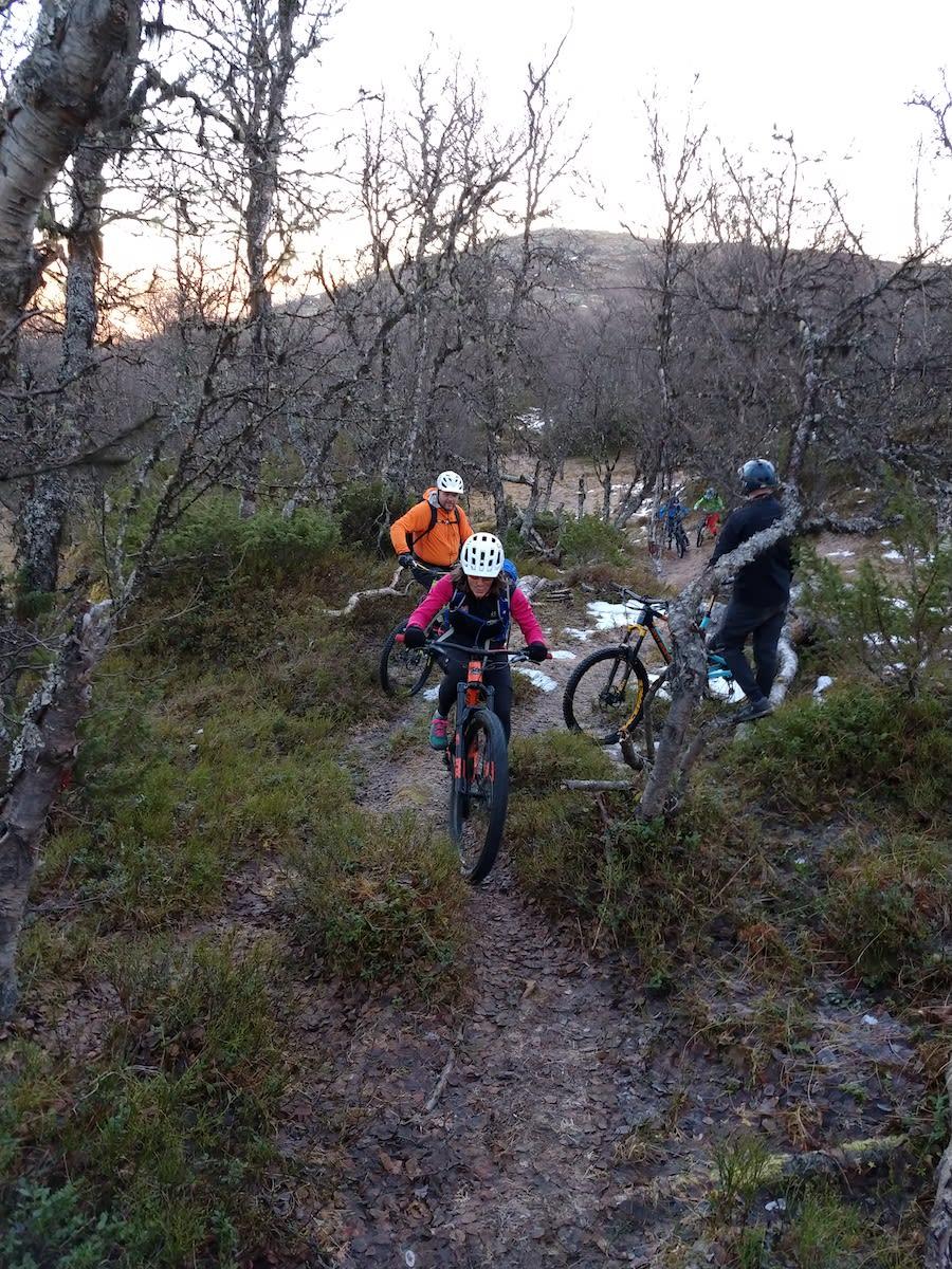Stisyklistene på Oppdal kan boltre seg på snøfrie forhold selv sent i november. Foto Tordis Jonsdottir